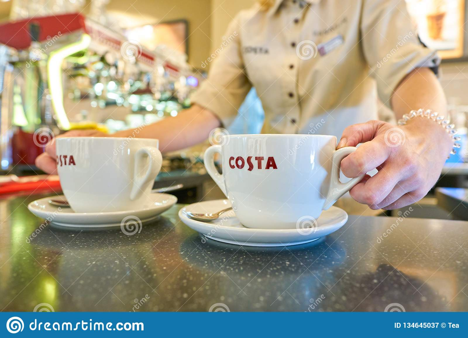 costa coffee editorial photography