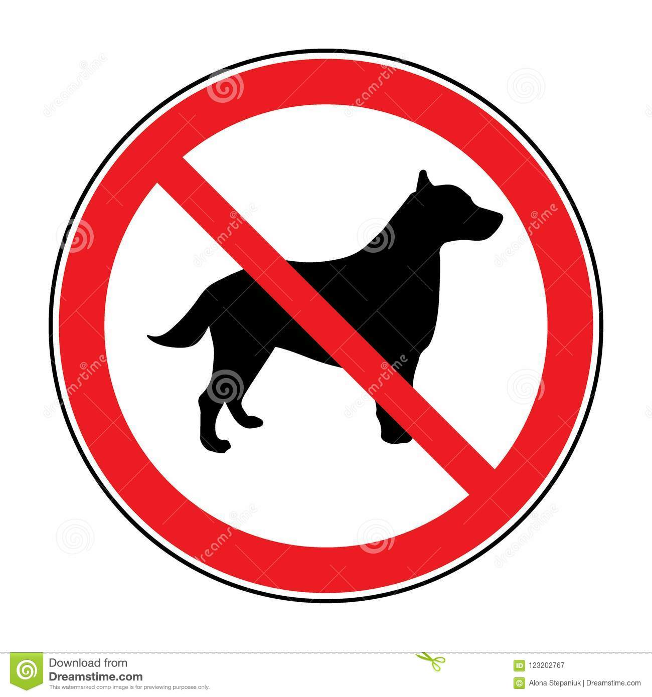 No Dog Sign Stock Vector Illustration Of Isolated