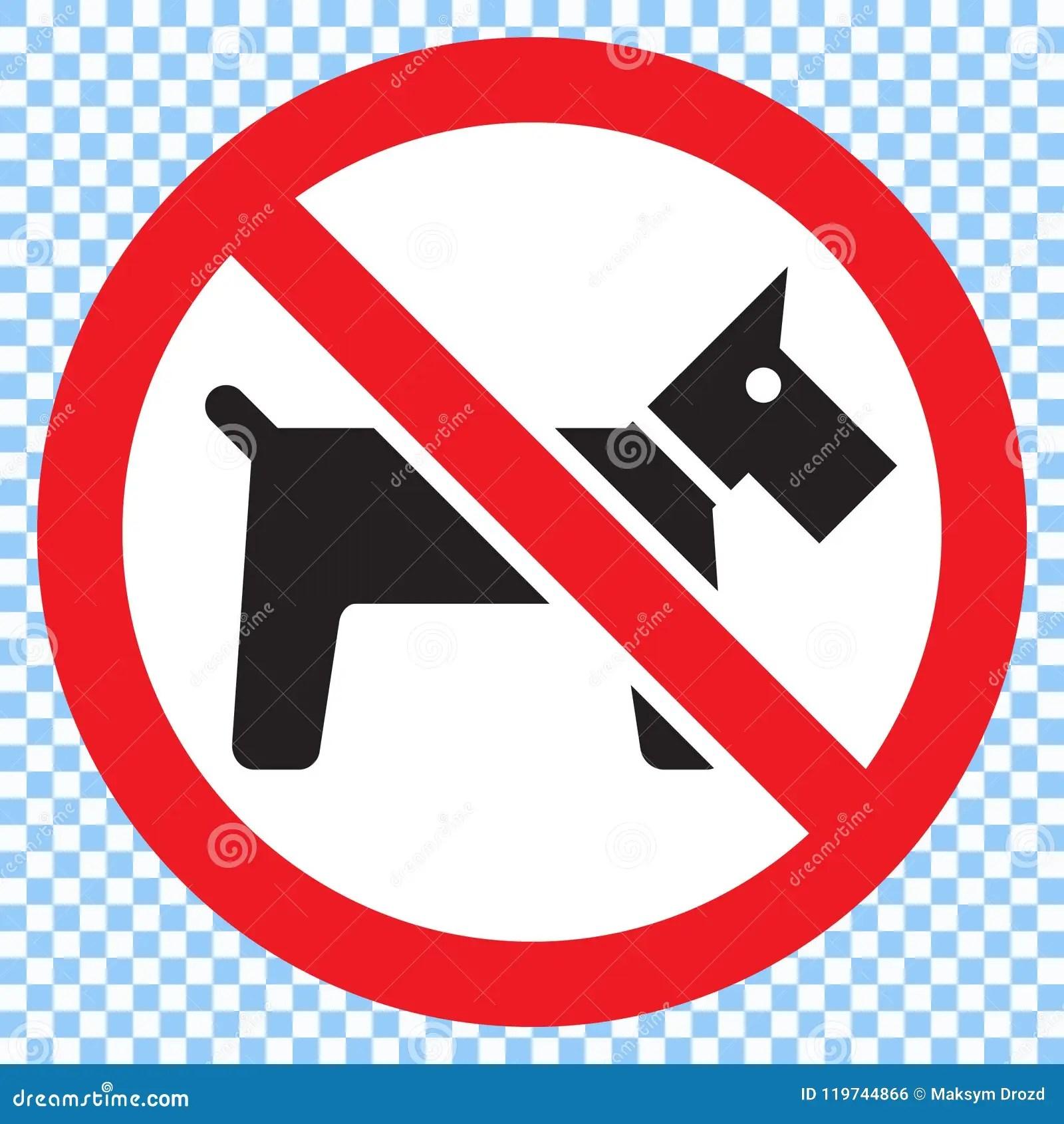 No Dogs Sign Stock Illustration Illustration Of