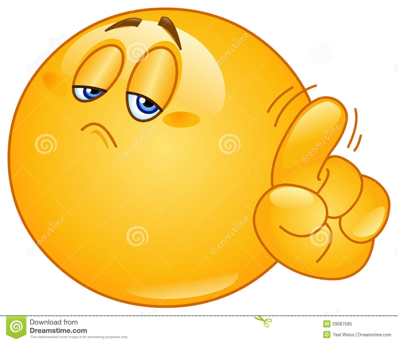 no emoticon stock vector