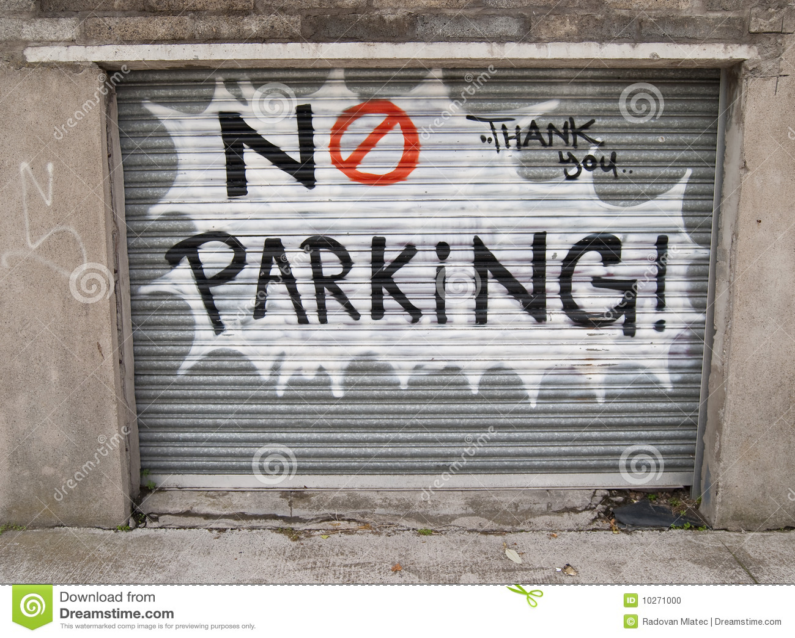 No parking graffiti stock photo Image of graffity
