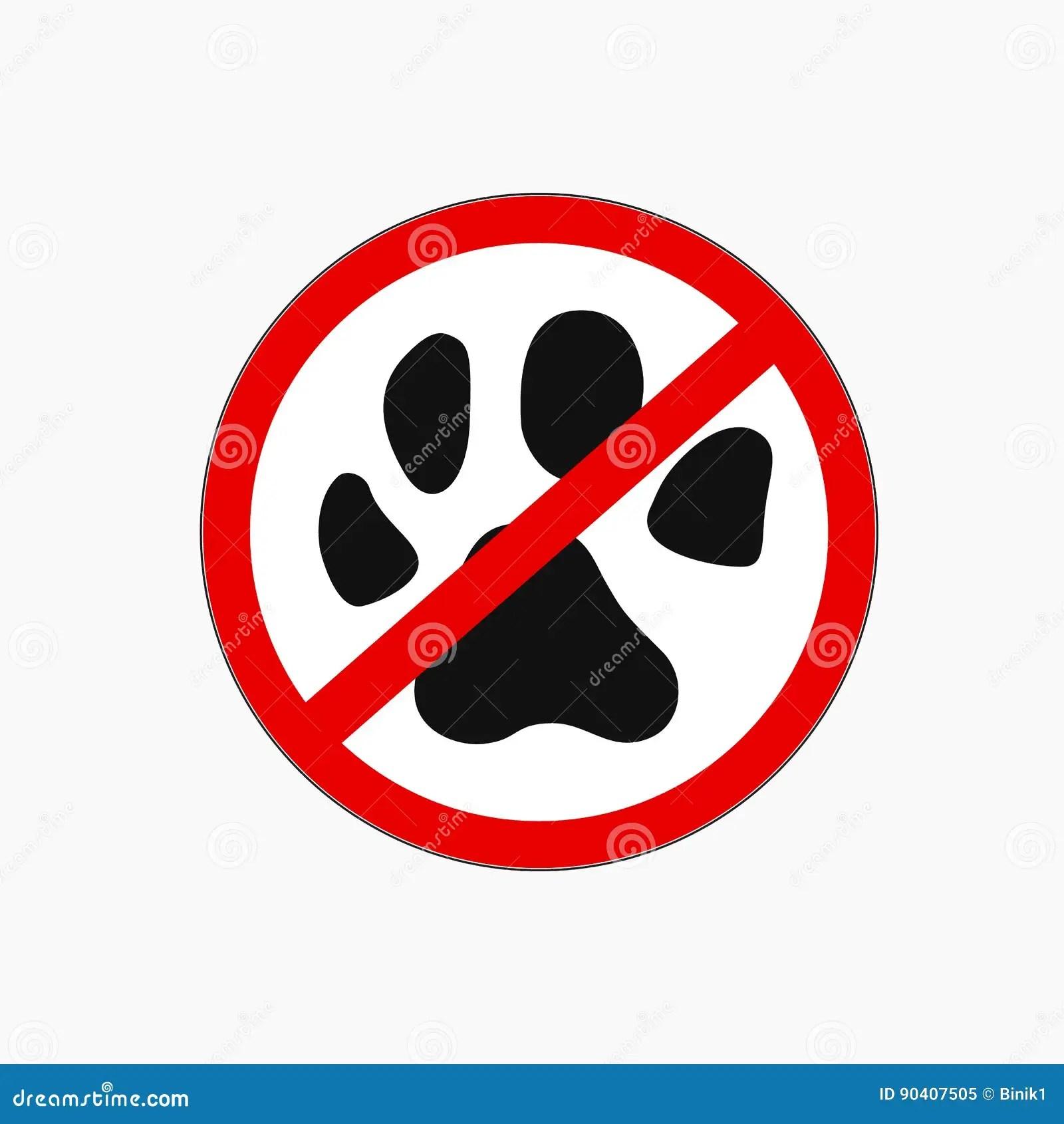 No Pets Icon Allowed Vector Sign Stock Vector
