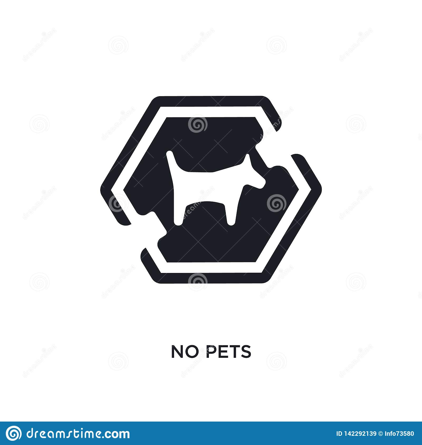 No Pets Isolated Icon Simple Element Illustration From