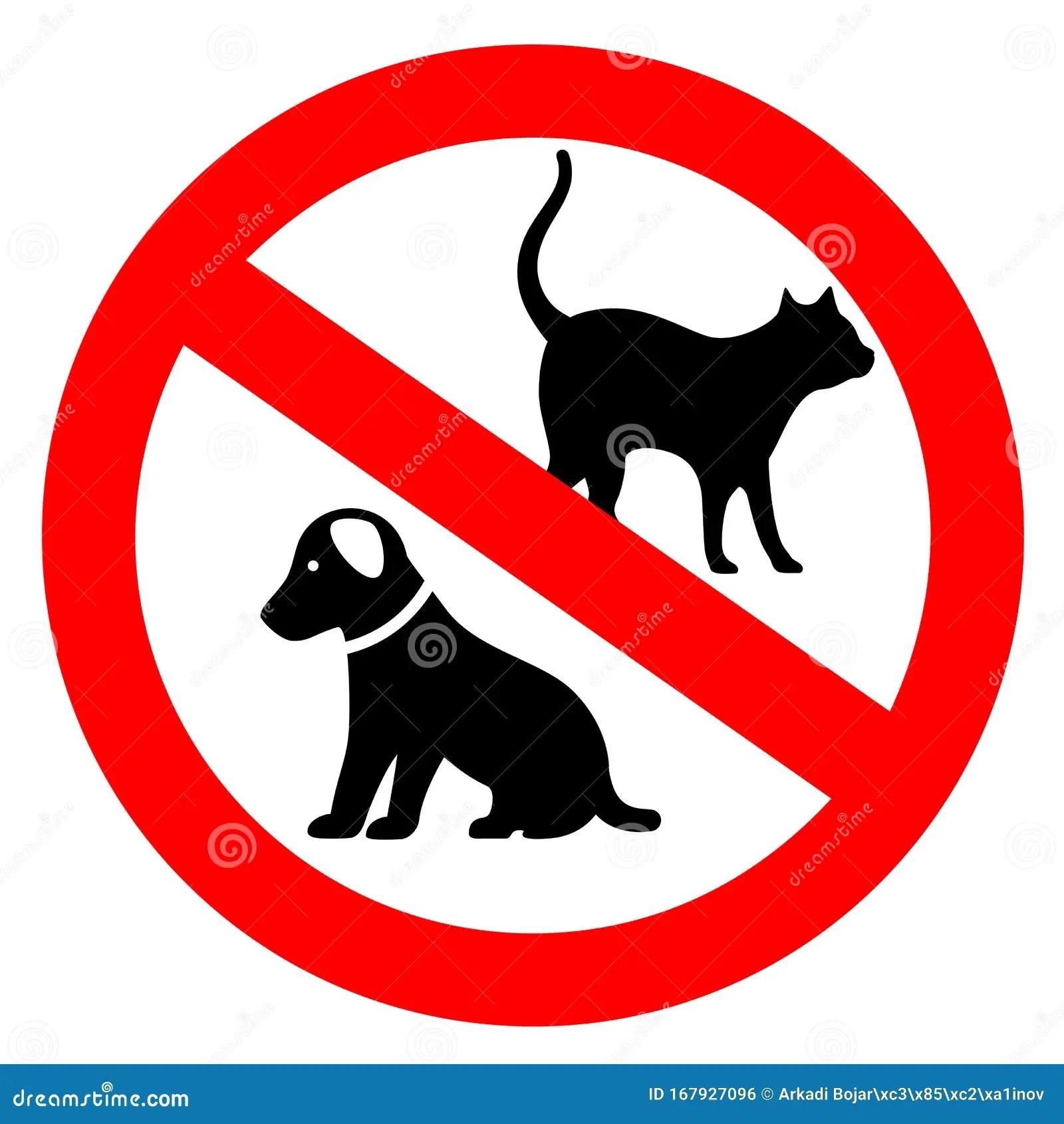 No Pets Vector Sign Stock Vector Illustration Of Cartoon