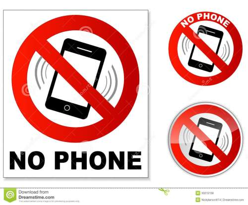 small resolution of no phone stock illustration illustration of mobile button 33215158