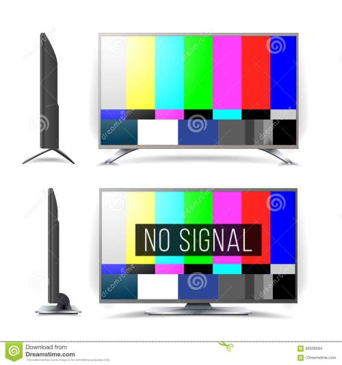 small resolution of no signal tv test pattern vector lcd monitor flat screen tv television colored