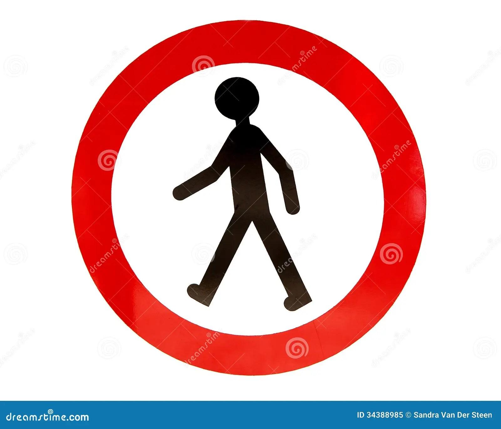 No Walking Sign Stock Image Image Of Caution Forbid