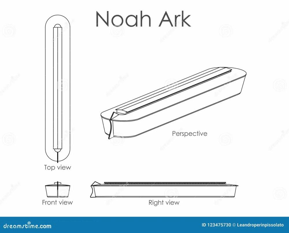 medium resolution of noah ark outline only