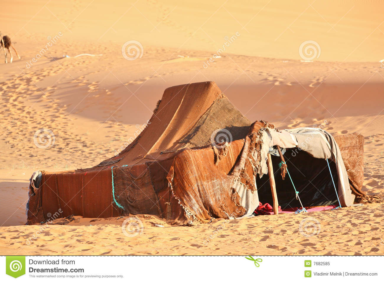 The nomad Berber tent stock image Image of camp remote