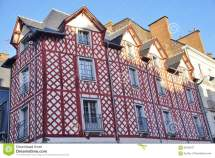 Normandy Tudor Medieval Houses In Rennes France Editorial