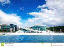 Norwegian Opera And Modernd Oslo Norway Stock