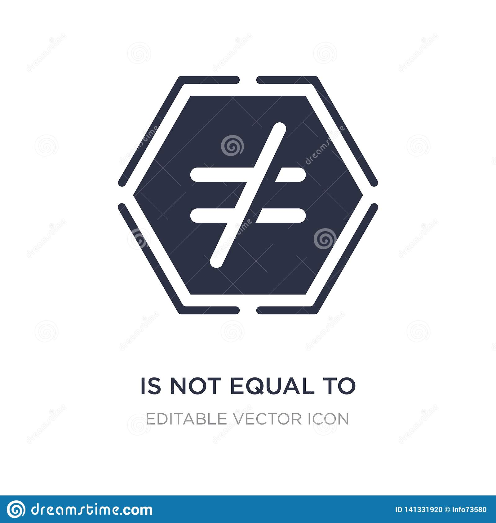 Is Not Equal To Icon On White Background Simple Element