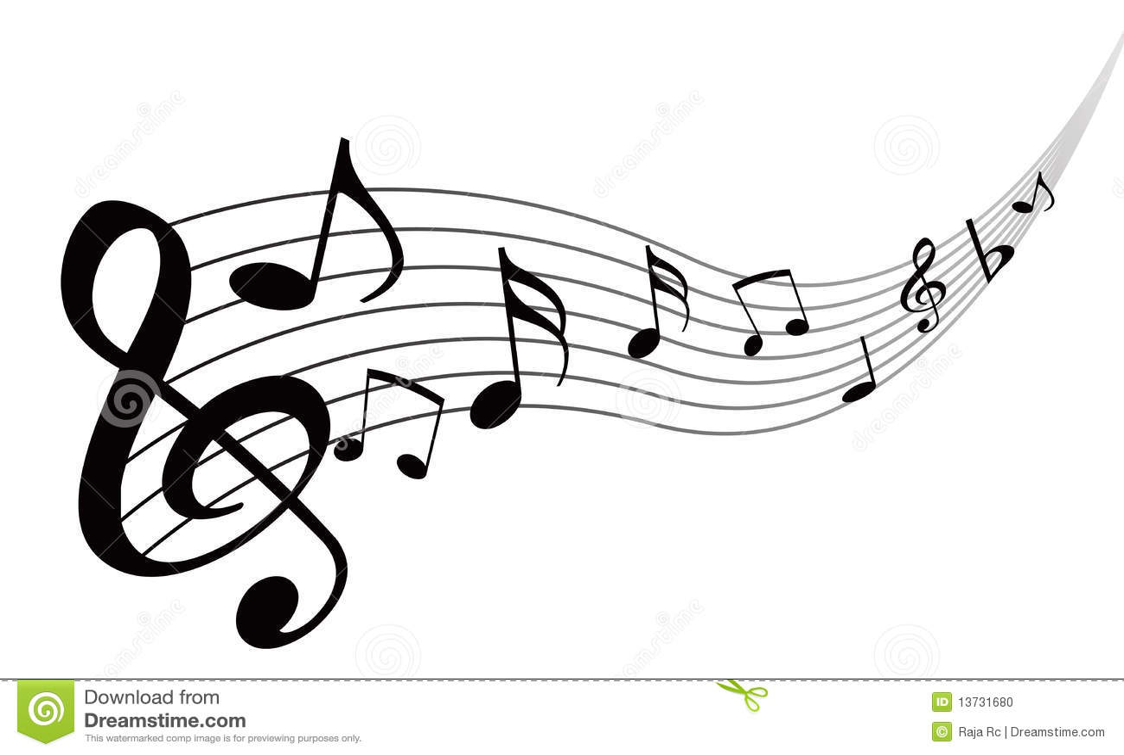 Notas Da Musica Ilustracao Do Vetor Ilustracao De