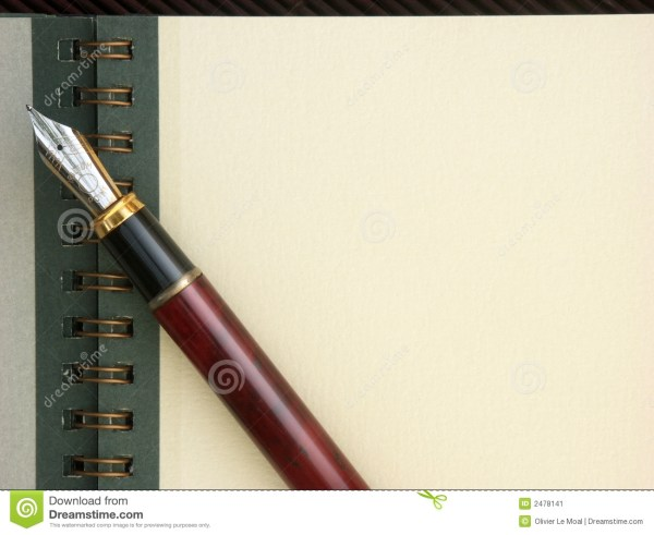 Note Pad Pen And Copy Space Stock - 2478141