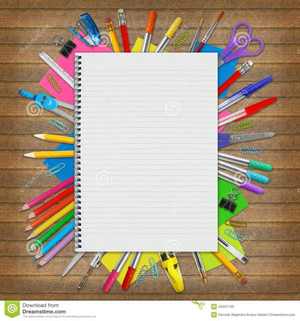 Notebook And Education Border Stock - Of Copy