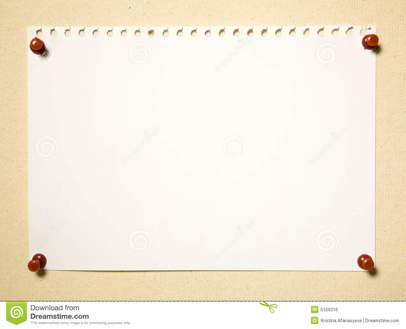 Notepad Page On Textile Background Stock Photo