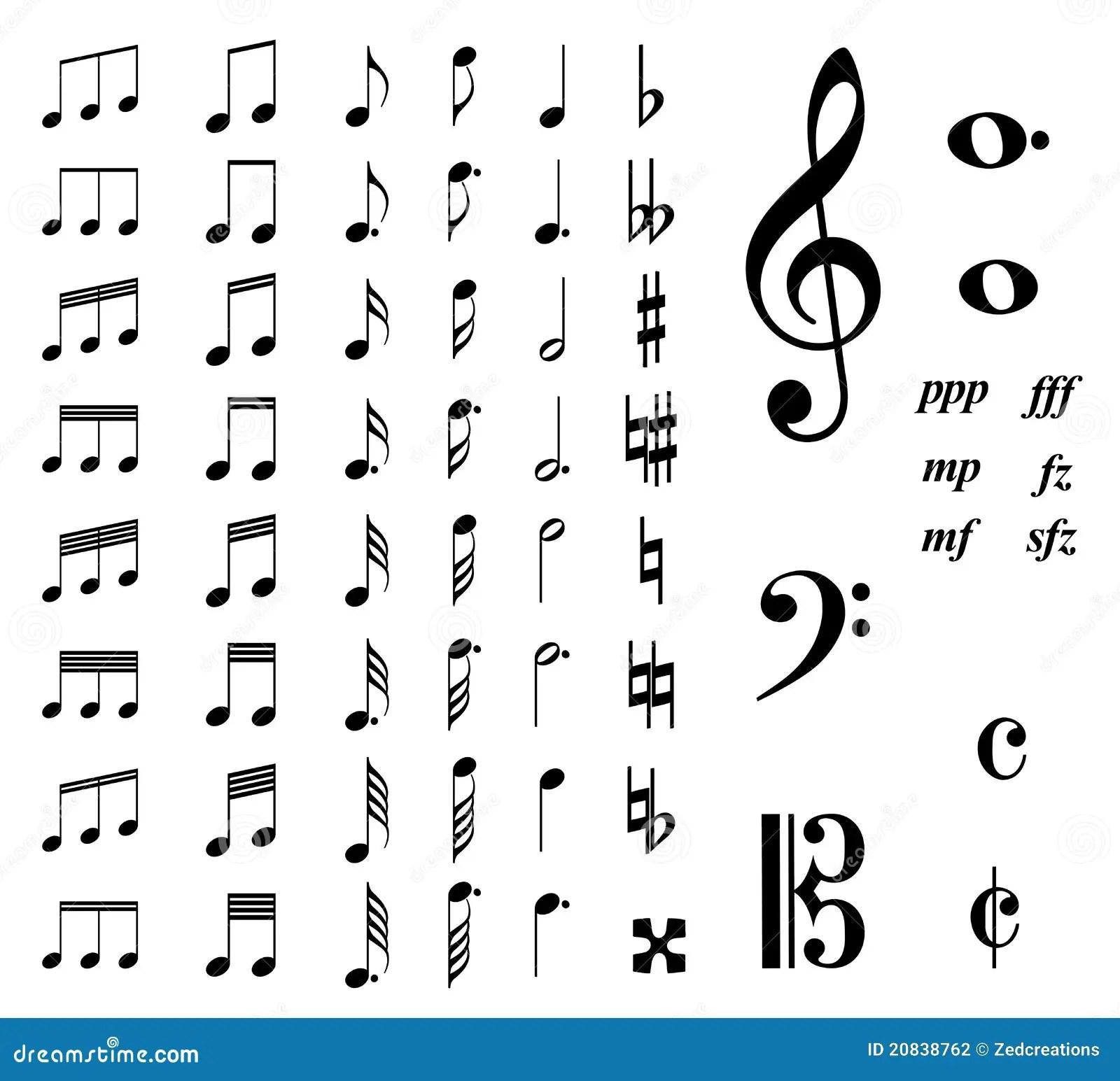 Notes De Musique Photographie Stock