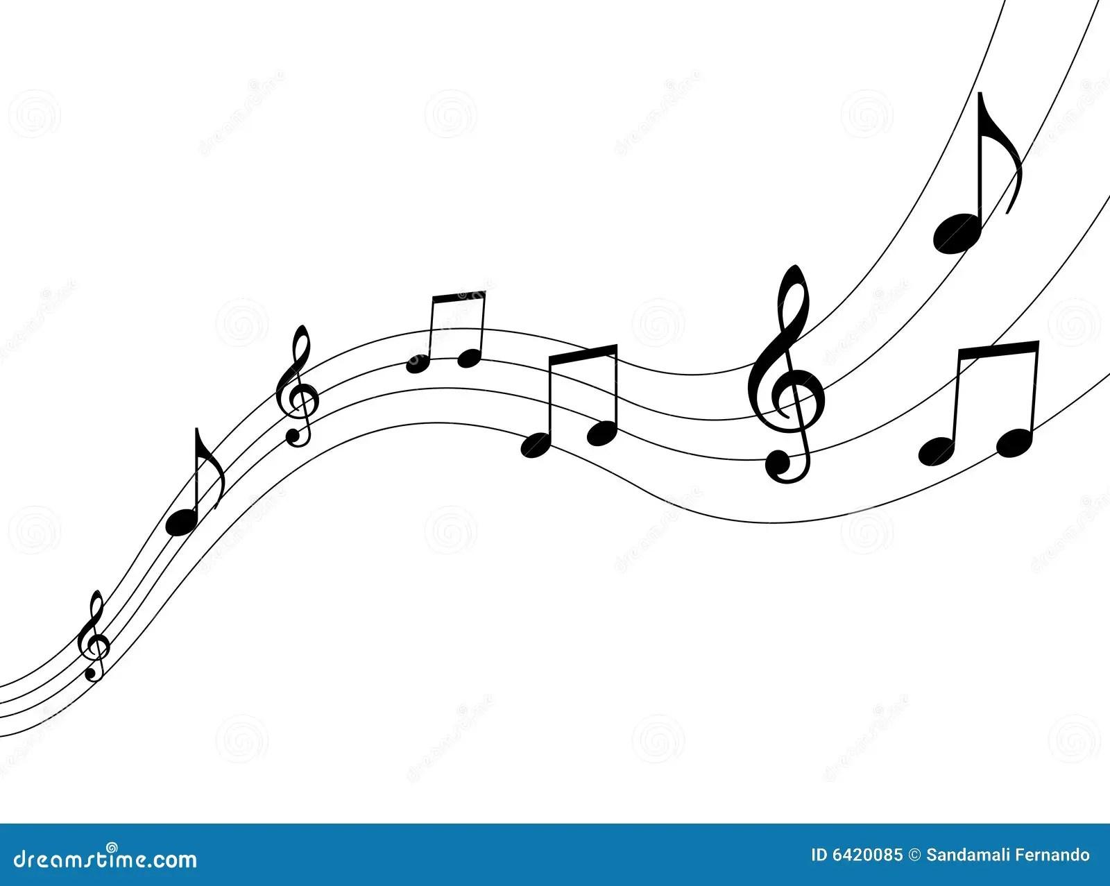 Notes de musique illustration de vecteur. Illustration du