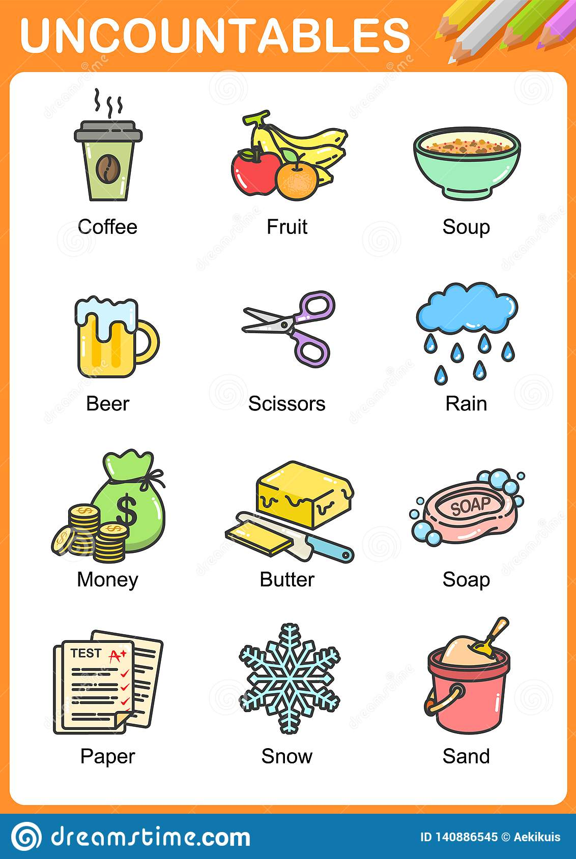 Worksheet On Uncountable Nouns