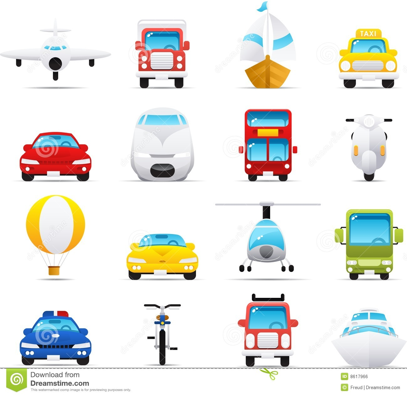 Nouve Icon Set Transportations Royalty Free Stock Image