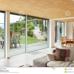 Veranda Living Rooms Modern Room Chairs Nterior View Stock Photo Image Of Mountain House Architecture Interior