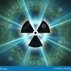 Atomic Symbol Diagram Of Whitetail Deer Skull Nuclear Radiation Stock Photos - Image: 37896843