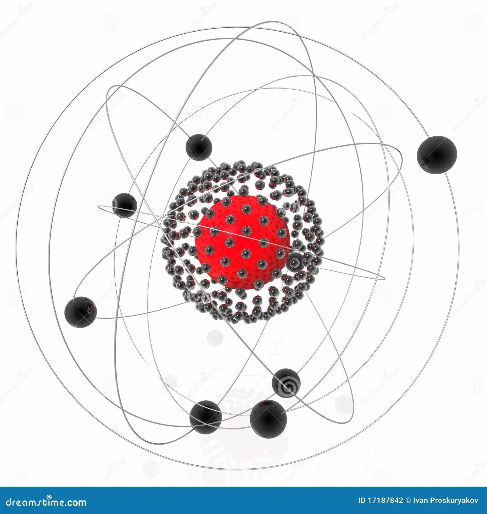 Nucleo atomico illustrazione di stock. Illustrazione di