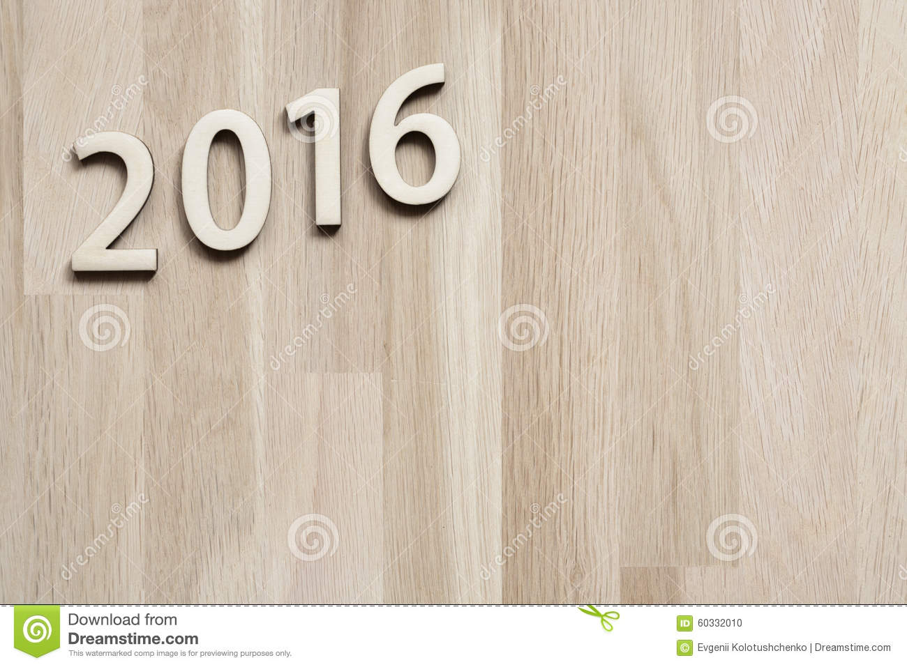 Number On Wooden Table Background New Year Template Royalty Free Stock Image