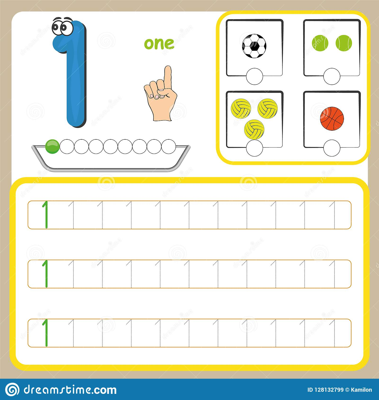 Number Cards Counting And Writing Numbers Learning Numbers Numbers Tracing Worksheet For
