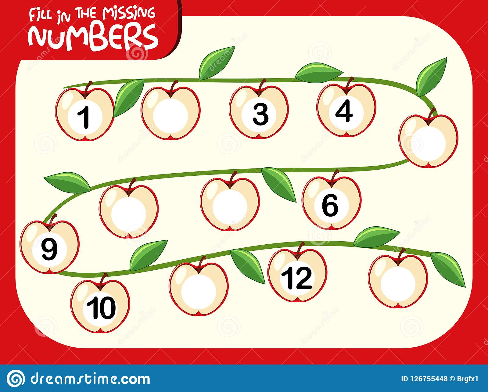 A Number Math Worksheet Stock Vector Illustration Of Counting