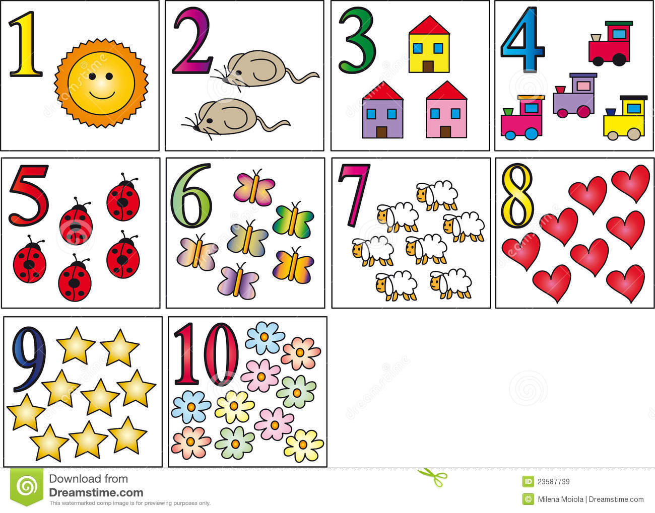 Numbers Stock Illustration Illustration Of Children