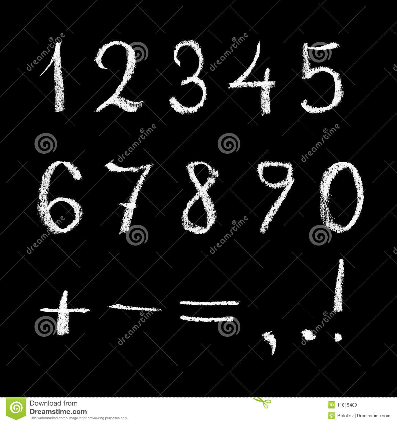 Numbers On Chalkboard Stock Illustration Image Of
