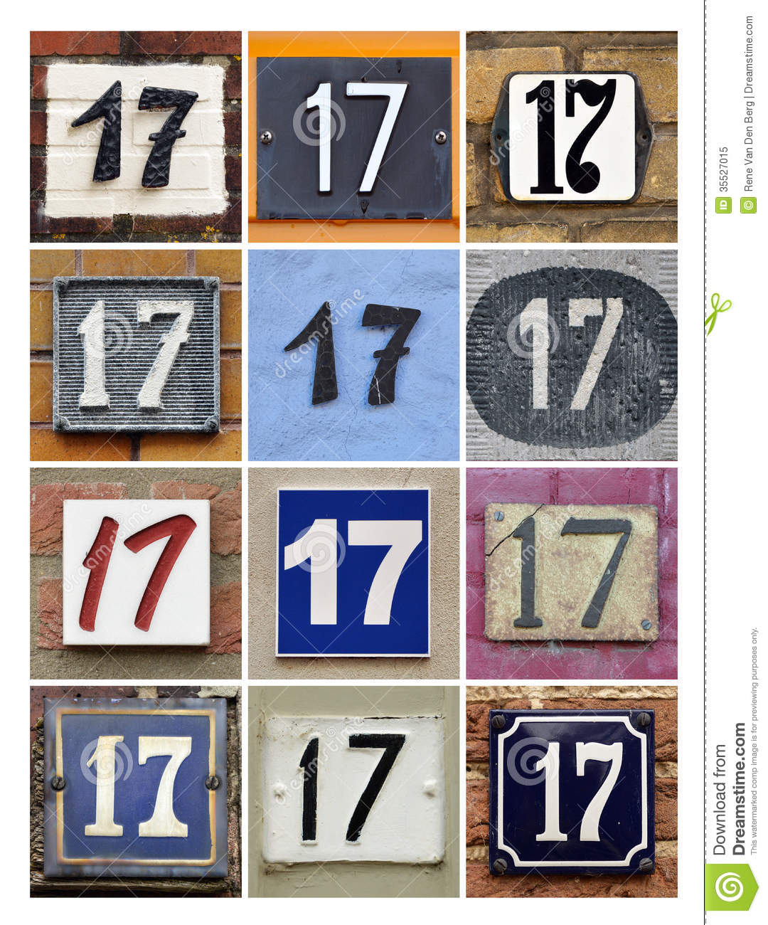 numbers 17 stock image