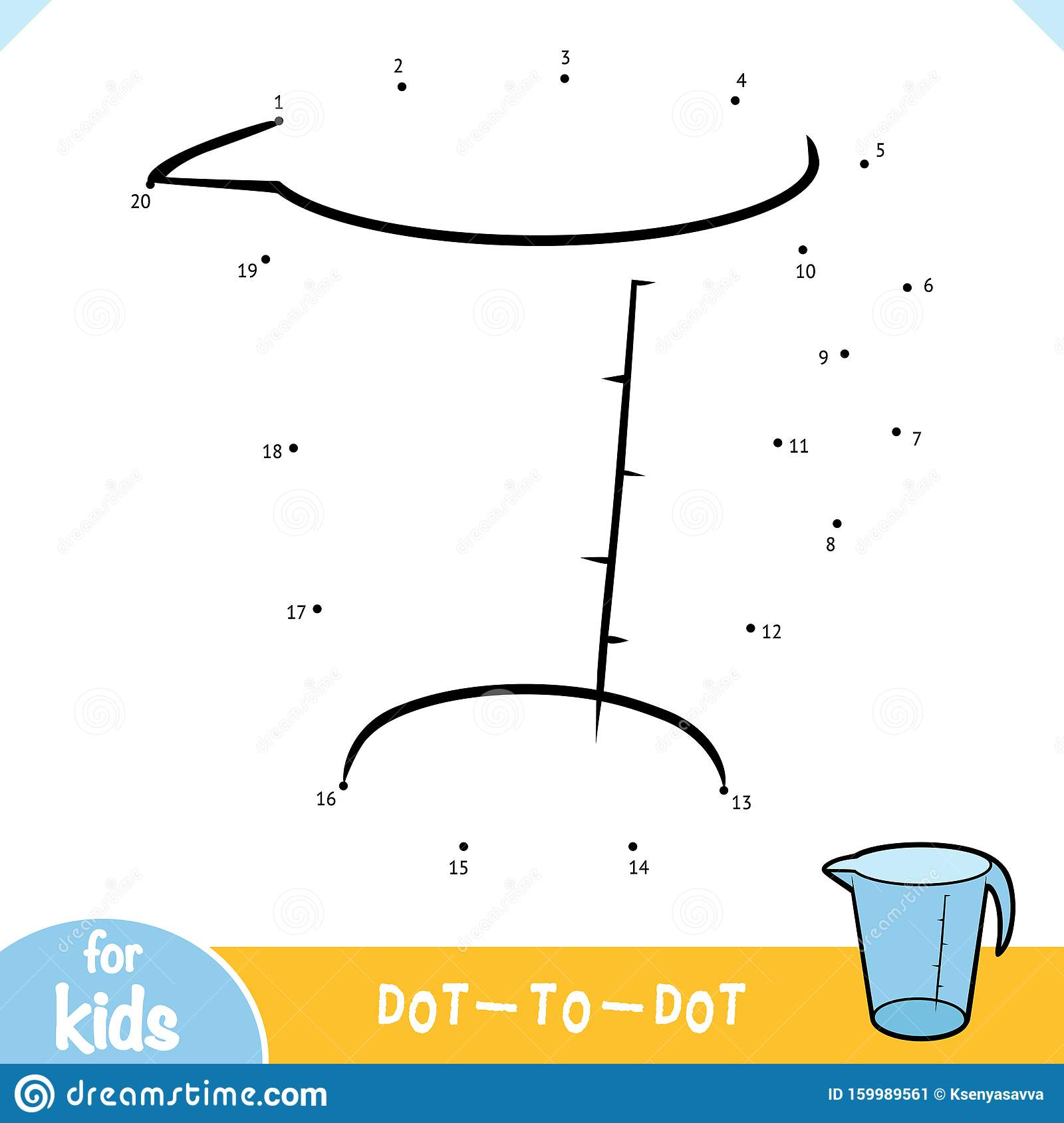 Numbers Game Education Game For Children Measuring Cup