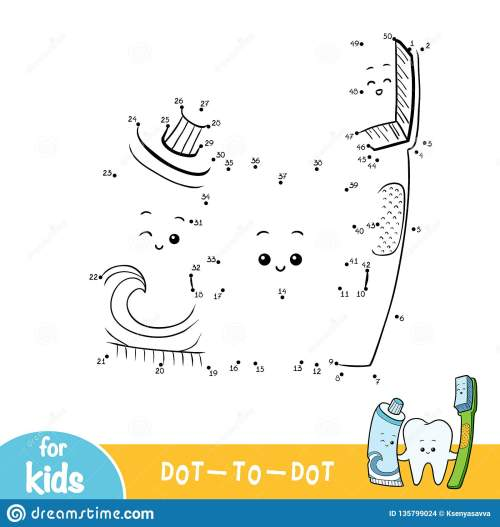 small resolution of numbers game education dot to dot game for children tooth and toothbrush and toothpaste
