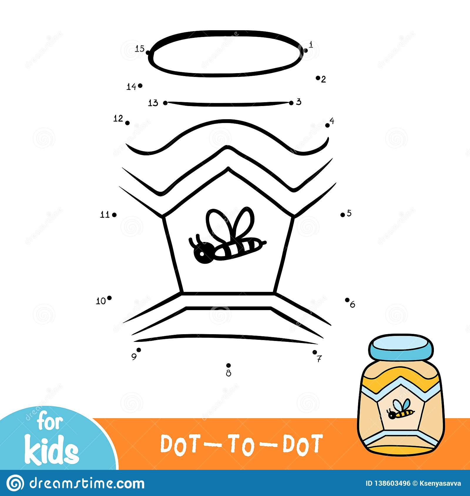 Numbers Game Education Dot To Dot Game Jar Of Honey