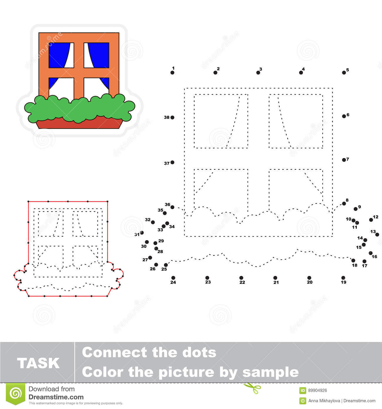 Numbers Game For Kids Stock Vector Illustration Of