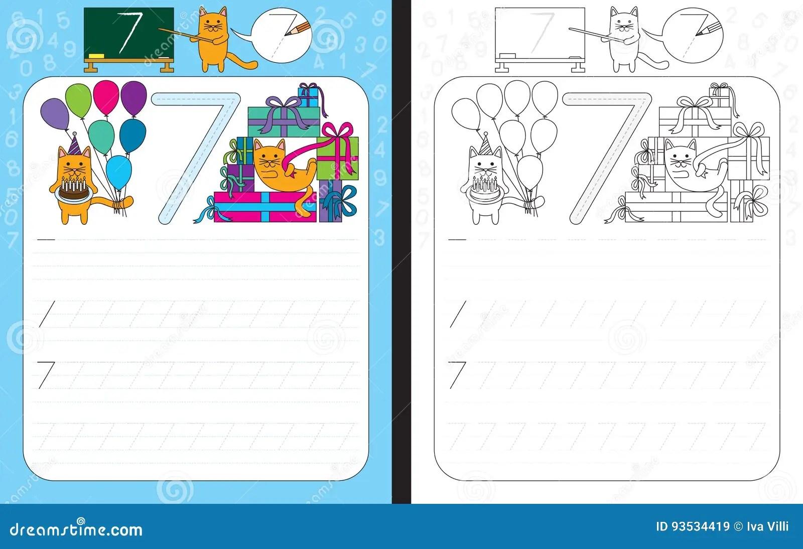 Handwriting Worksheet Tracing Numbers 1 30