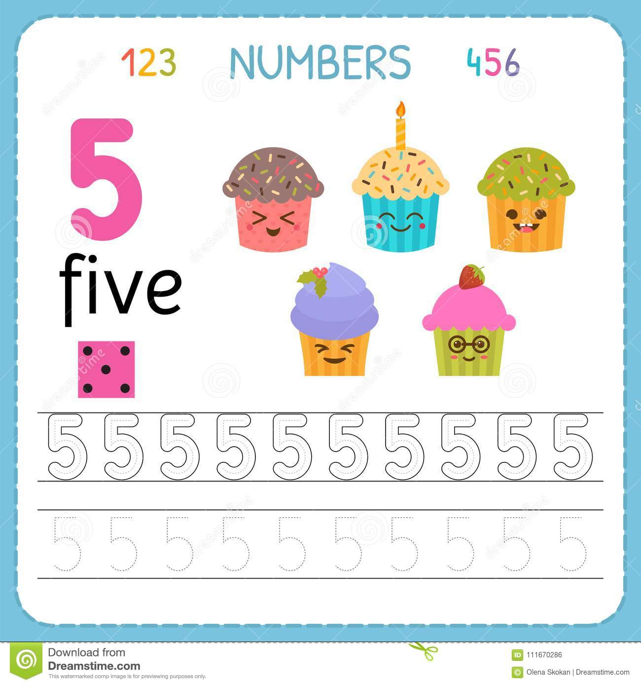 Numbers Tracing Worksheet For Preschool And Kindergarten