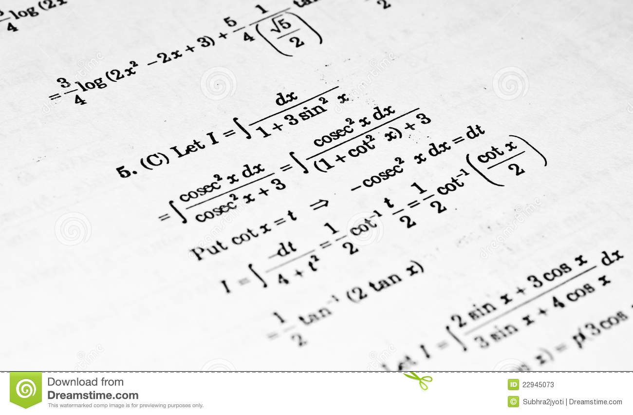 Numerical Problems In Calculus Stock Image