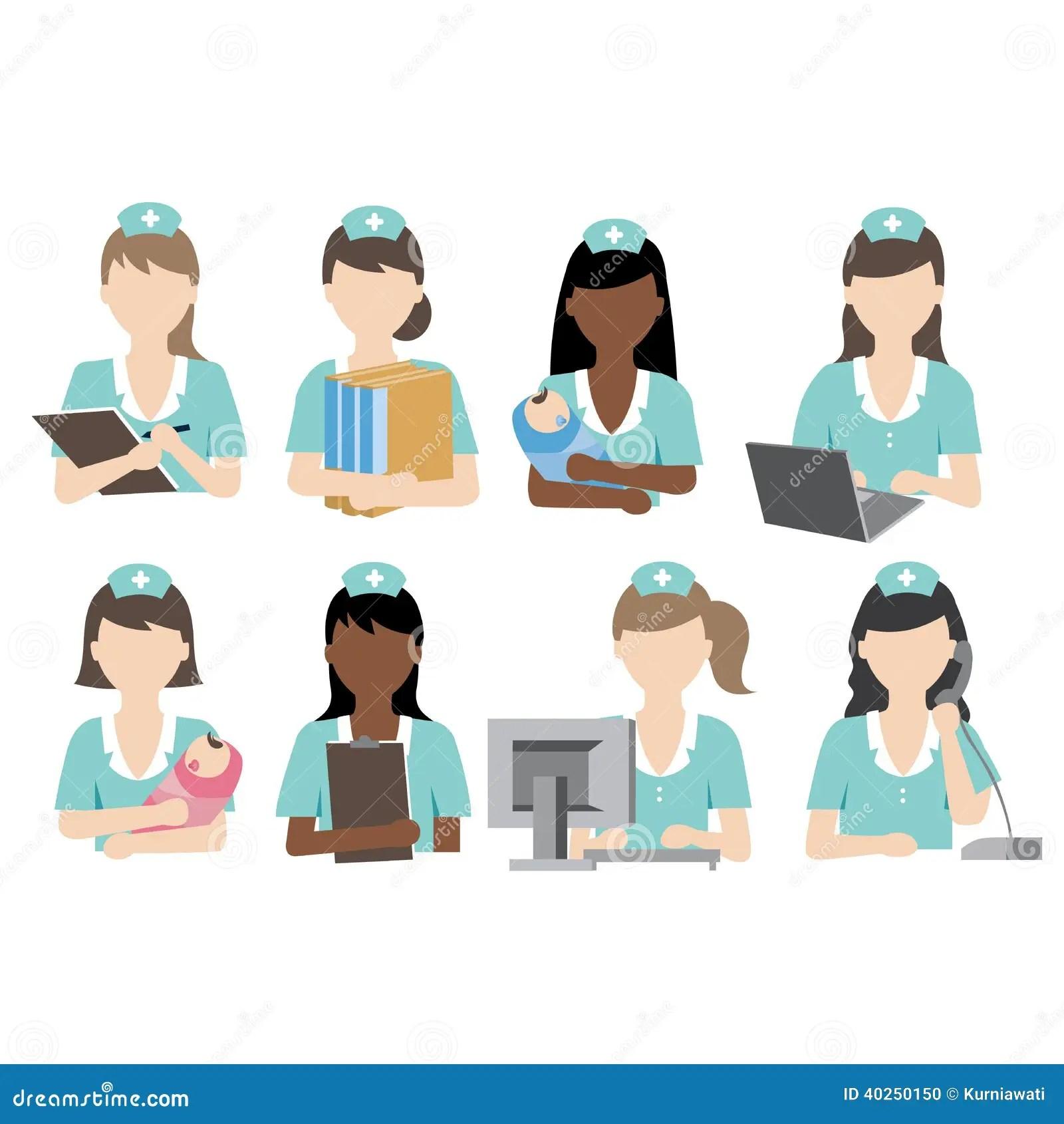 Nurse Activity Stock Vector Illustration Of Medical