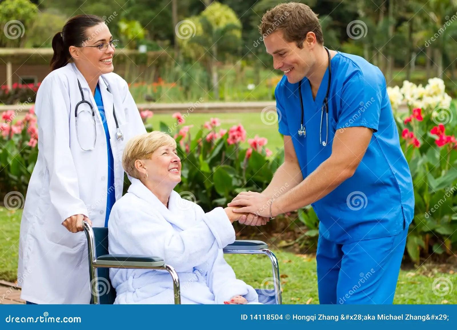 Nurse Meet Patient Stock Images  Image 14118504