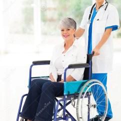 Wheel Chair Prices Design Model Nurse Patient Wheelchair Stock Images - Image: 33857294