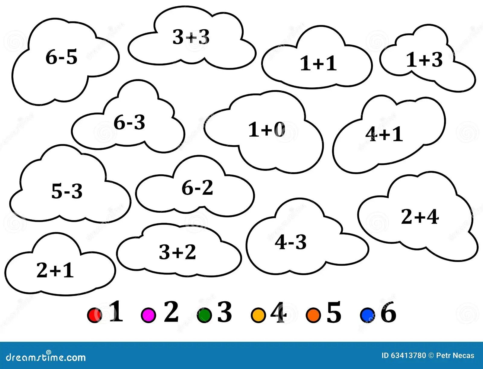 Nuvole Variopinte Come Il Conteggio Per I Bambini