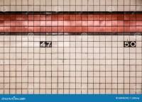 NYC Subway Wall Stock Photo