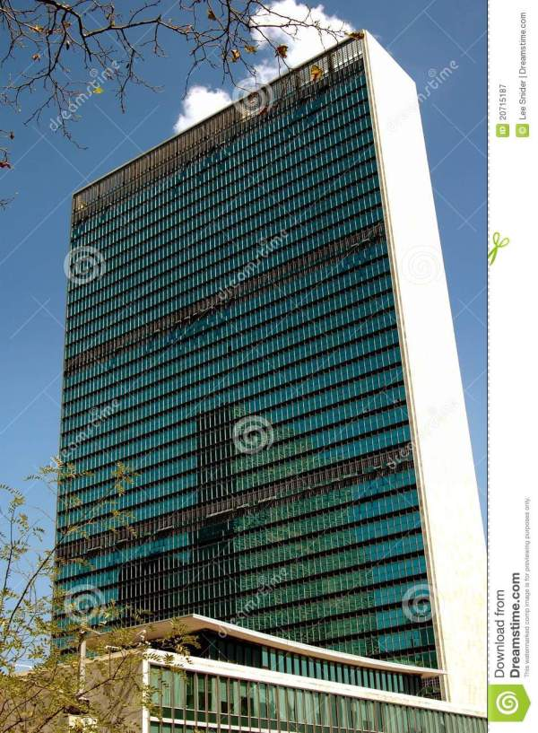 Nyc United Nations Secretariat Building Royalty Free