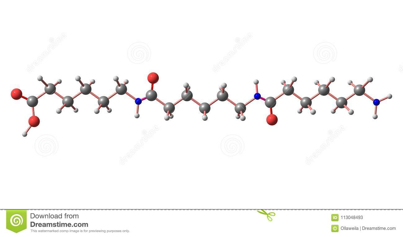 hight resolution of nylon is a generic designation for a family of synthetic polymers based on aliphatic or semi aromatic polyamides 3d illustration