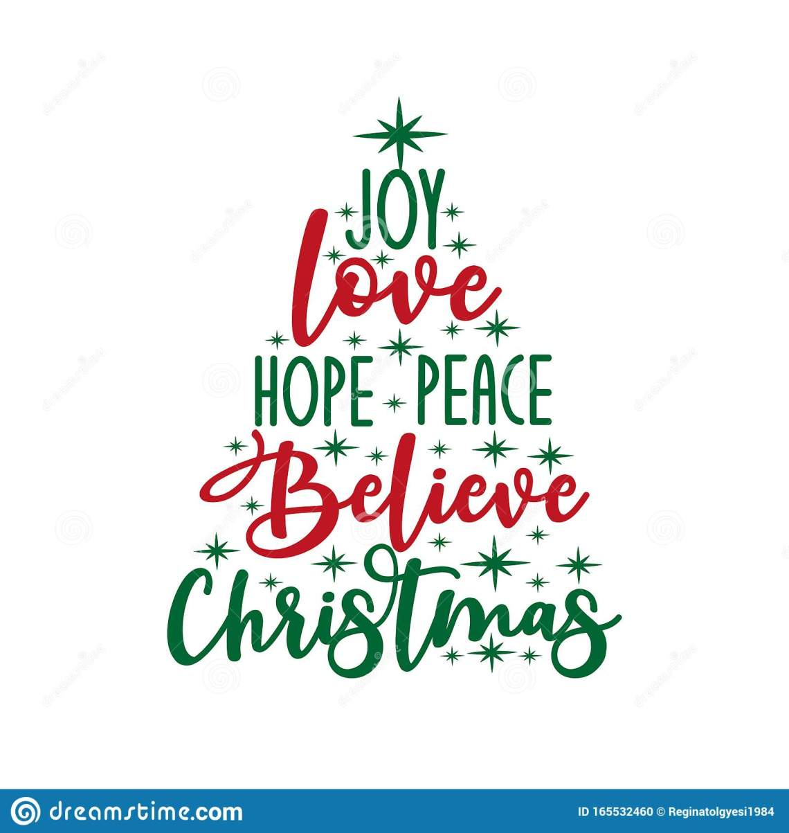 Download Joy Love Hope Peace Believe Christmas - Calligraphy Text ...