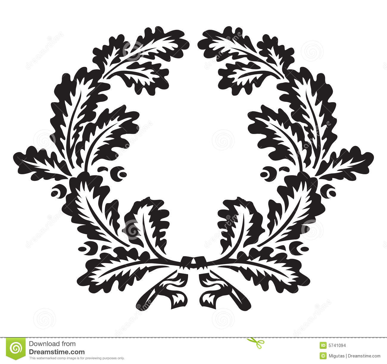 Oak Wreath Stock Vector Image Of Trophy Element Garland