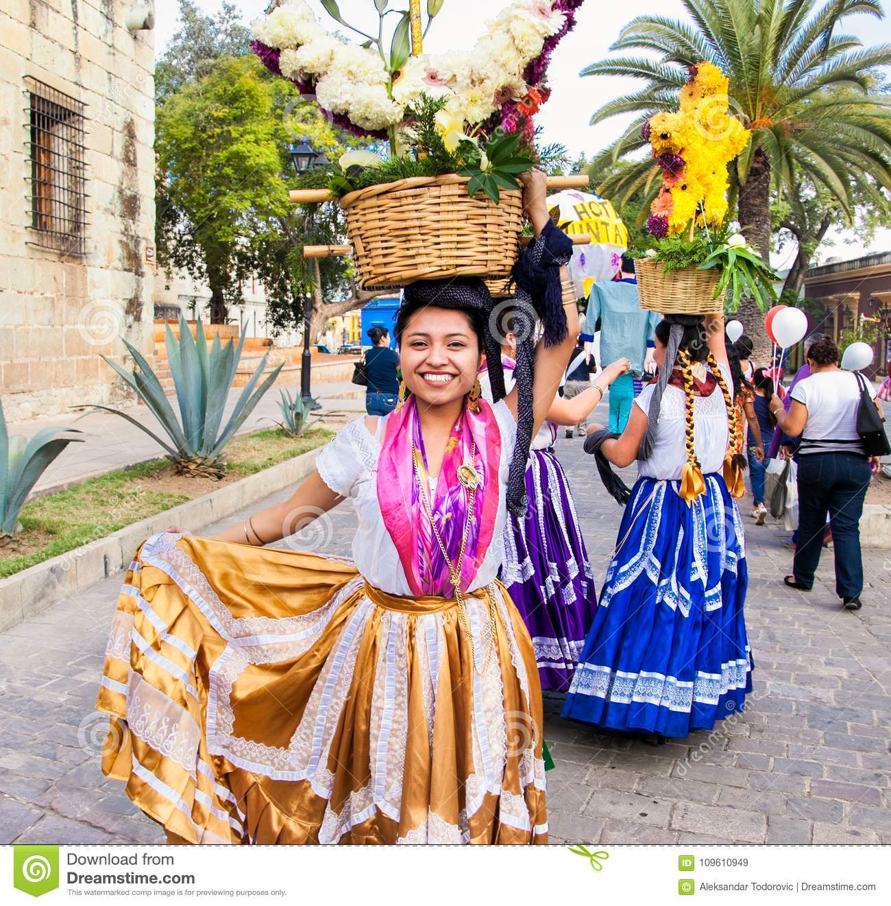 Beautiful Lady Celebrating Day Of The Virgin Of Guadalupe